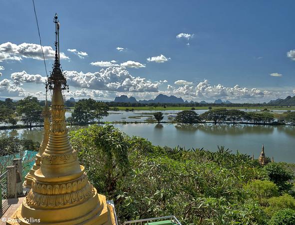 Kyauk Kalap Lake Monastery, Hpa-an, Kayin State, Myanmar, 30 September 2015