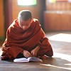 A monk studies in the local monastery.