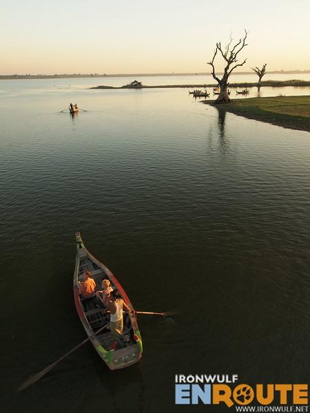 Boats on Lake Taungthaman
