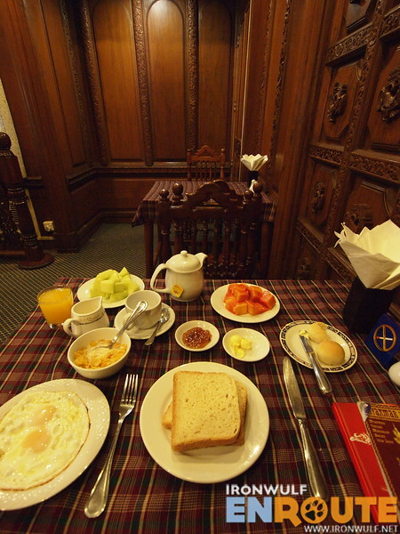 The free breakfast that comes with the room