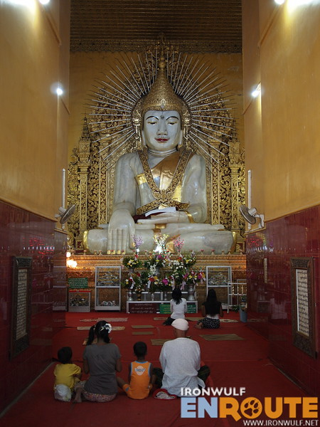 The 900-ton marble slab Buddha at Kyauktawgyi Paya