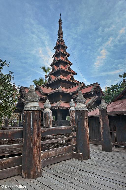 Bagaya Monastery (Bagaya Kyaung), Inwa, Myanmar