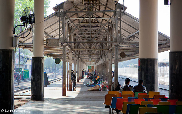 Mandalay Railway Station, Myanmar, 21 January 2014