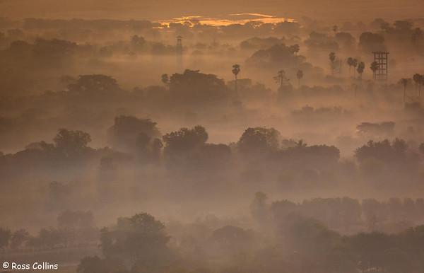 Sunrise from Mandalay Hill, Myanmar, 29 January 2013