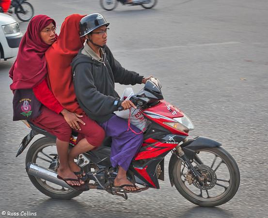 Morning Rush in Mandalay, Myanmar, 30 January 2013