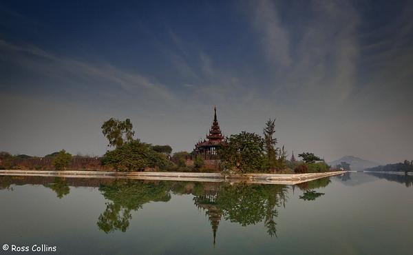 Royal Palace and Fort, Mandalay, Myanmar, 30 January 2013