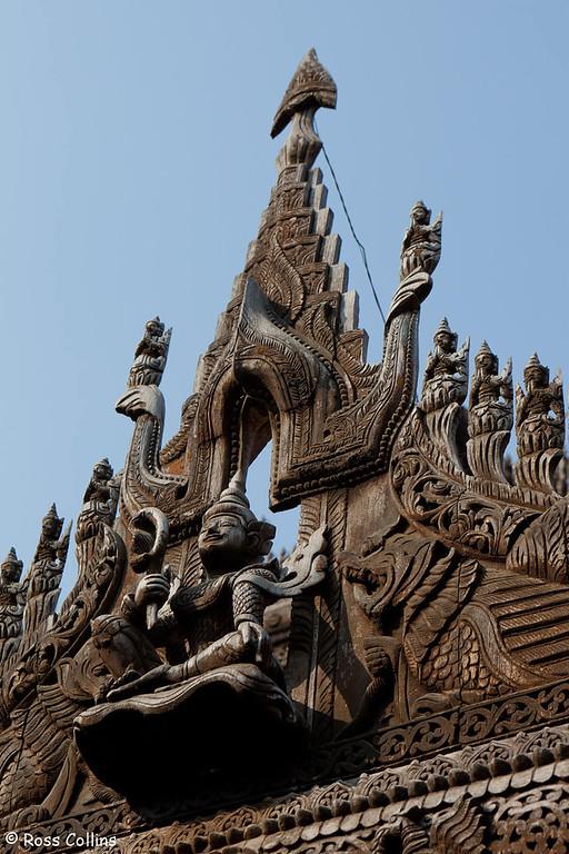 Shwenandaw Kyaung Monastery, Mandalay, Myanmar, 29 January 2013
