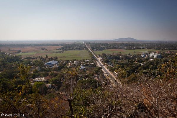Yankin Hill, Mandalay, Myanmar, 26 January 2014