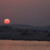 The sun goes down across the  Irrawaddy