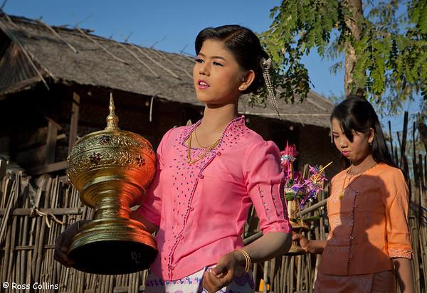 Novitation Ceremony at Bansi Village near Monywa, Myanmar, 25 January 2014
