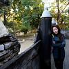 My wife at Shwe Kyaung monastery in Mandalay