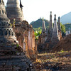 Old pagodas at Inn Tein basking under the early evening sun