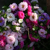 Beautiful flower bouquets. The Inle people buy a lot of flowers!