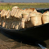 Boat loaded with brand new baskets.