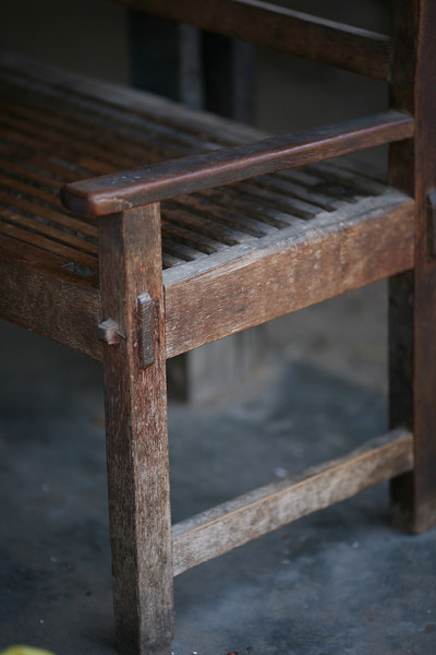 Beautifully worn bench.