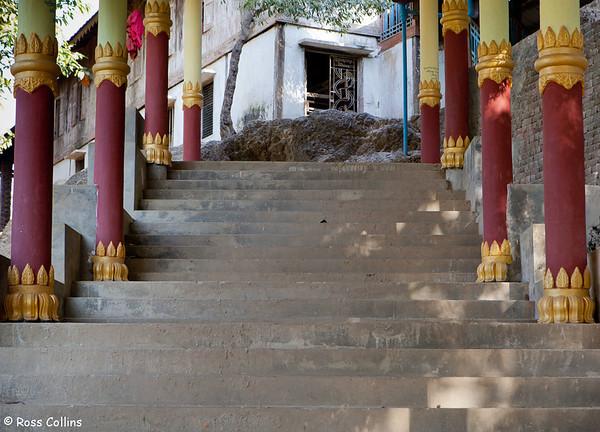 Bandoola Kyaung Monastery, Mrauk U, Myanmar, 5 February 2014