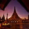 Shwedagon in the early morning light.