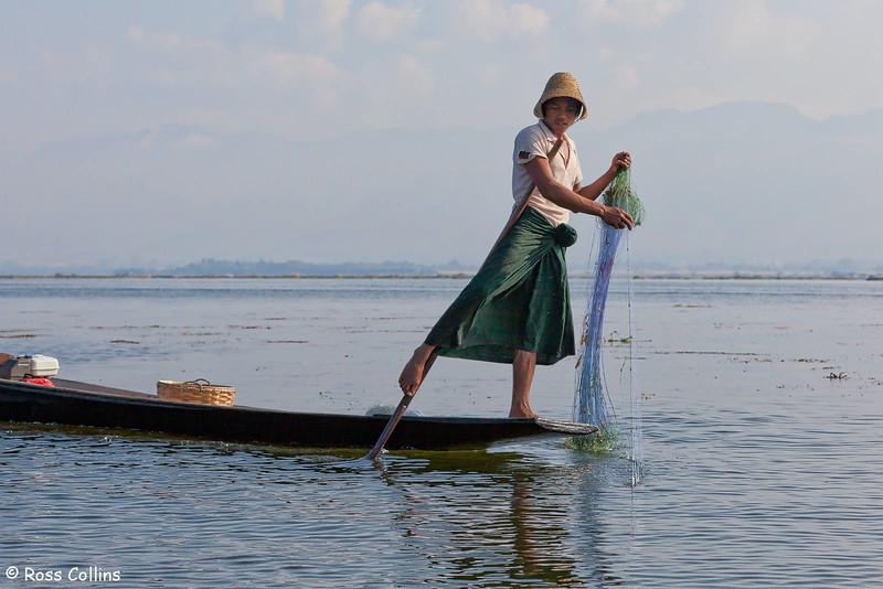 Inle Lake Fisherman, South Shan State, Myanmar, 21/22 January 2014
