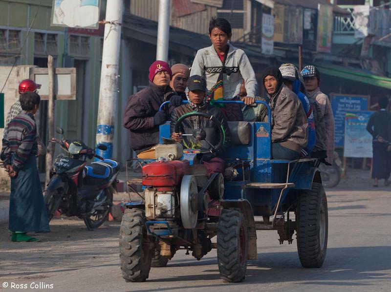 Morning Commute in Nyaung Shwe, Myanmar, 22/23 January 2014