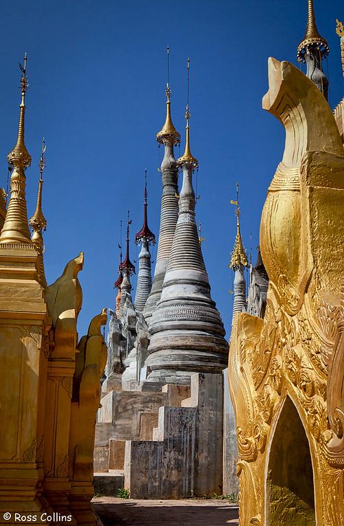 Shwe Inn Tain Pagoda, Inle Lake, Myanmar, 22 January 2014