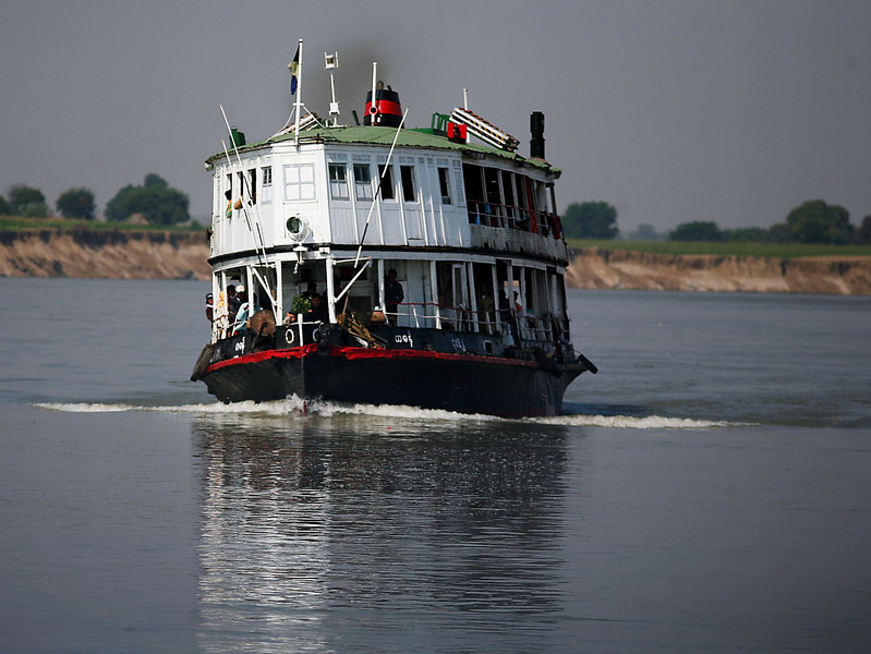 One of the larger boats plying the Irrawaddy.