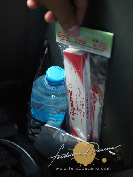 Complimentary items from the bus