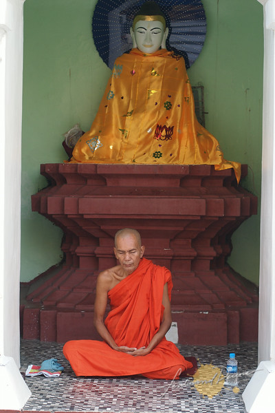 A monk in meditation