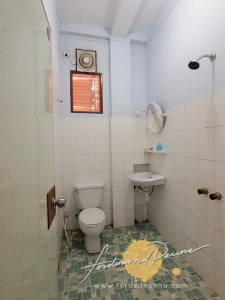 The bathroom at Room 205