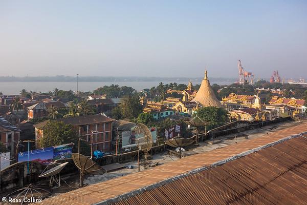 Botataung Pagoda, Yangon, Myanmar, 9 February 2014