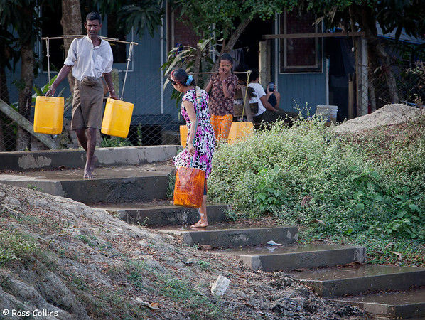 Collecting Water at Dalah, Myanmar, 9 February 2014
