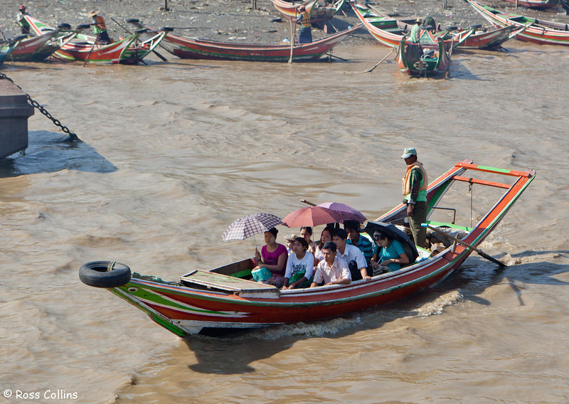 Dalah Ferry Across the Yangon River, Myanmar, 25 January 2013