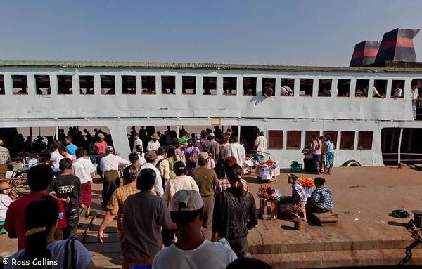 Dalah Ferry Across the Yangon River, Myanmar, 25 January 2013
