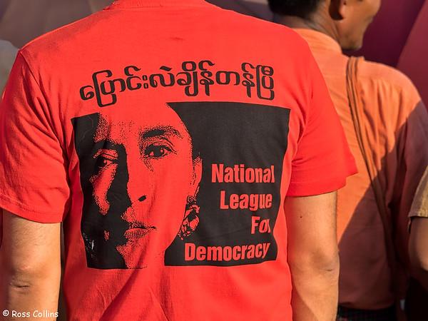 NLD Rally, Thingangyun Township, Yangon, 1 November 2015