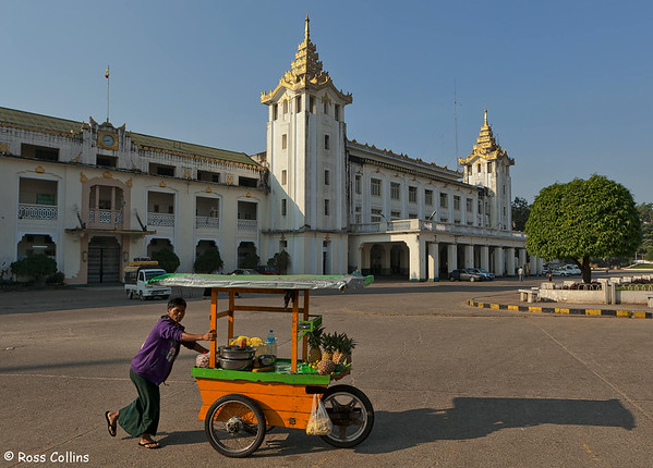 In and around the Yangon Central Railway Station, Myanmar, 17 January 2014