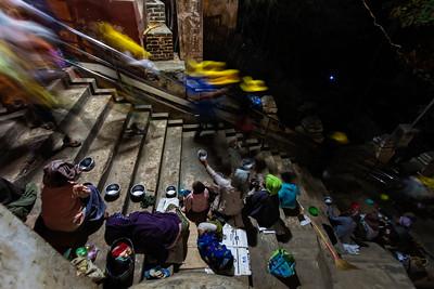 Beggars at the Bupaya Pagoda