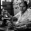 Seamstress Yangon Market Burma
