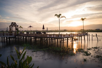 Sunset over Lake Inle