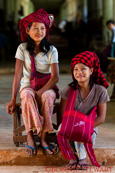 Young women at the temple