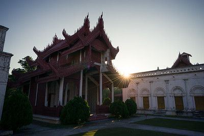 Mandalay Palace sunset