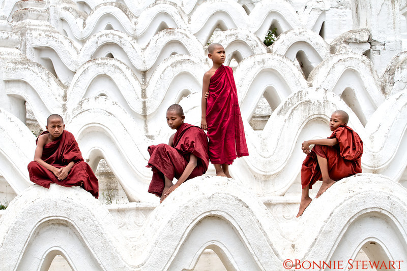 Young monks at the Hsin Phyu Mae Temple just north of Mandalay