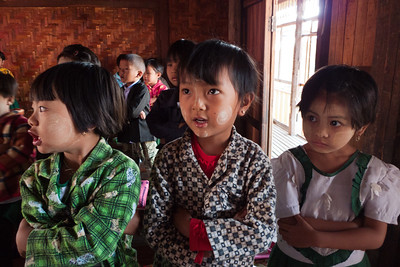 Lake Inle: In Phaw Khone Village School - Thanaka is a common face cream.