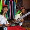Long neck tribe ladies weaving,  Inle Lakes