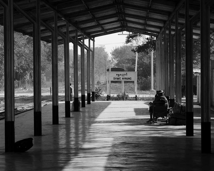 Shwe Nyaung Railway Station Burma