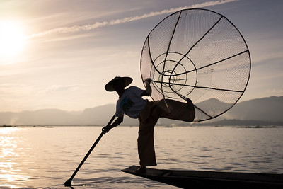 Fisherman on Inle Lake 1