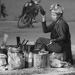 Woman street seller rural Burma