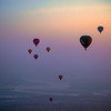 Ballooning In The Rainbow Morning Sky
