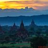 Bagan temples at sunset