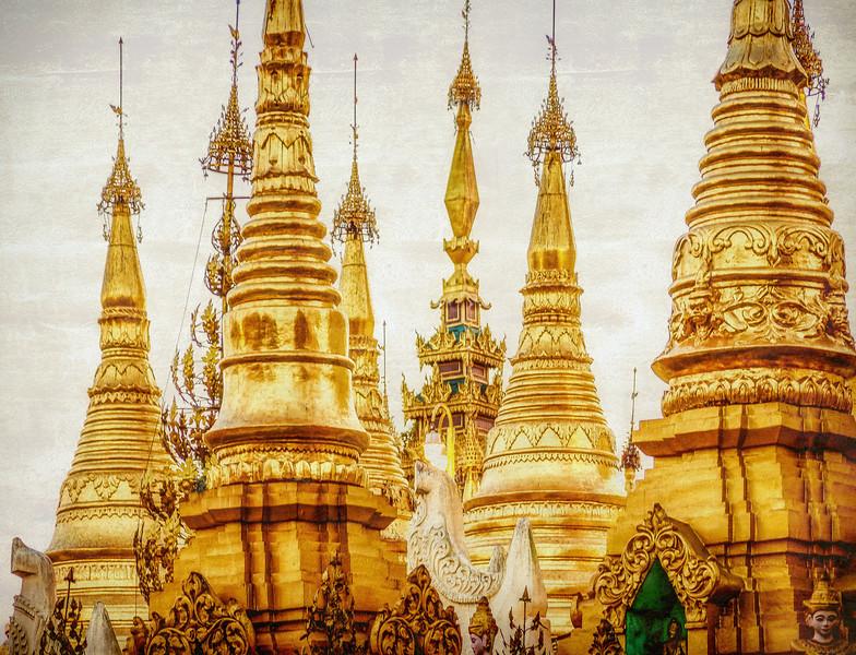 Stupas of Shwedagon