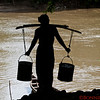 Local village water carrier