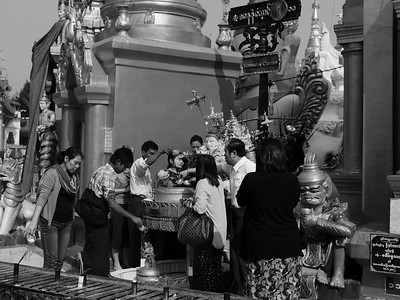 Worshippers Yangon Temple